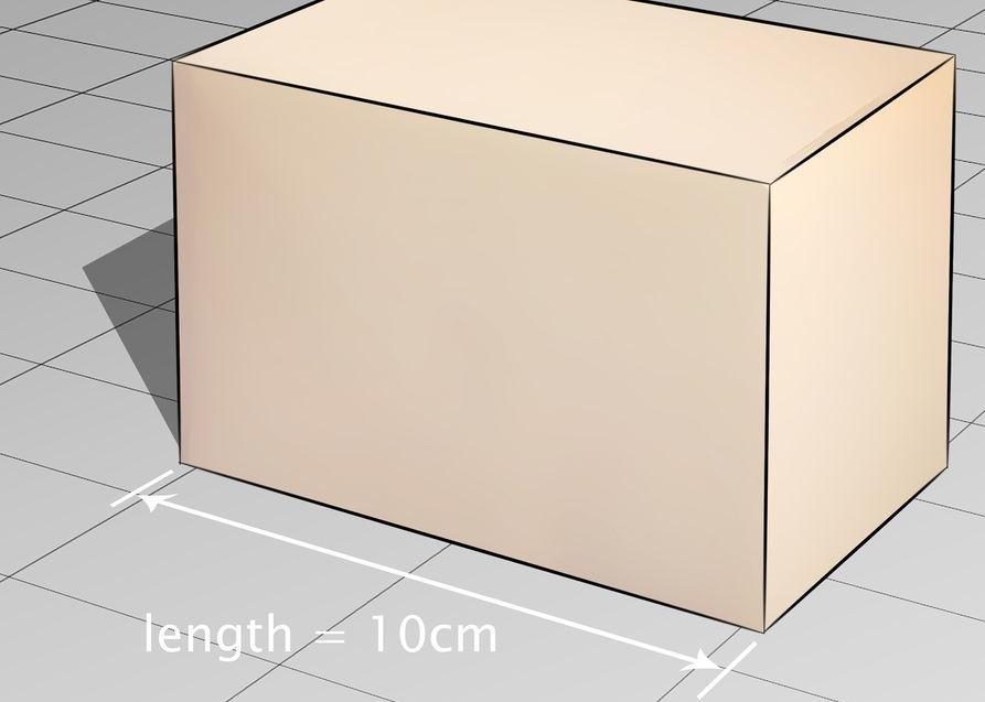 как посчитать объем коробки
